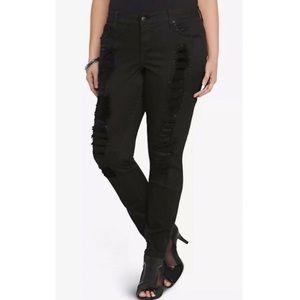 Torrid Premium Embellished Distressed Skinny Jean